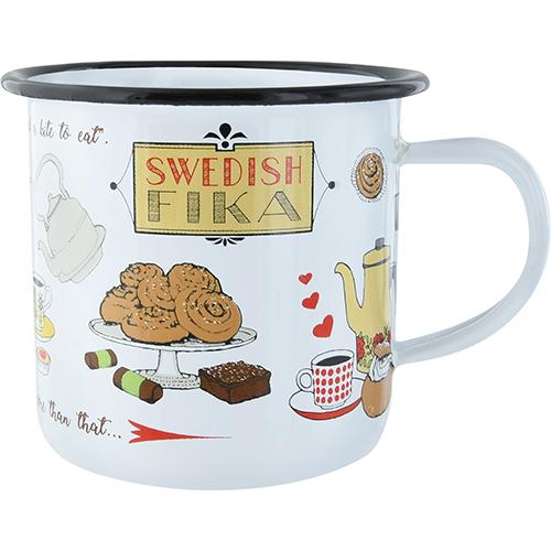 Emaljmugg, Swedish Fika