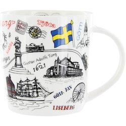 Mugg Göteborg teckning, 37cl
