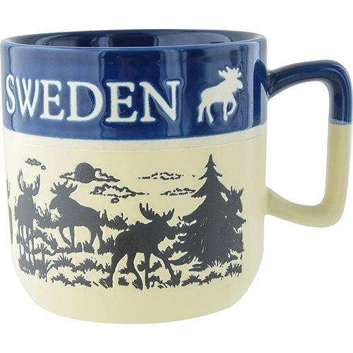 Mugg älg Sweden, tvåton blå