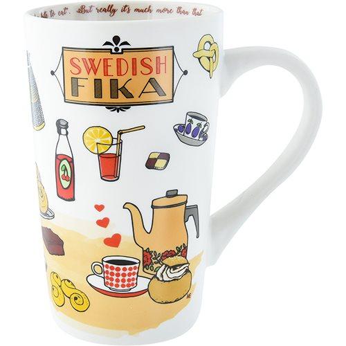 Mugg, Lattemugg, Swedish FIKA, 50cl,