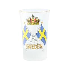 Shotglas frost Sverige flagga