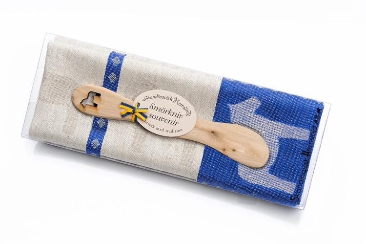Handduk och smörkniv, Dalahäst 3 olika färg