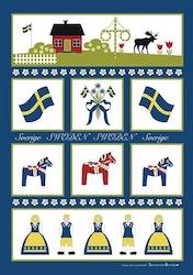 Handduk/smörkniv Sverigesymboler
