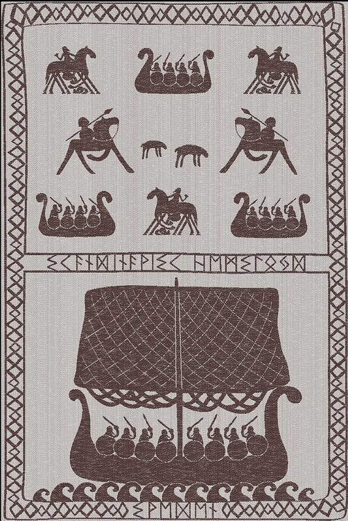 Handduk/smörkniv Vikingar