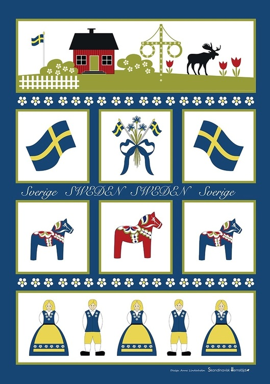 Handduk / Osthyvel Sverigesymboler