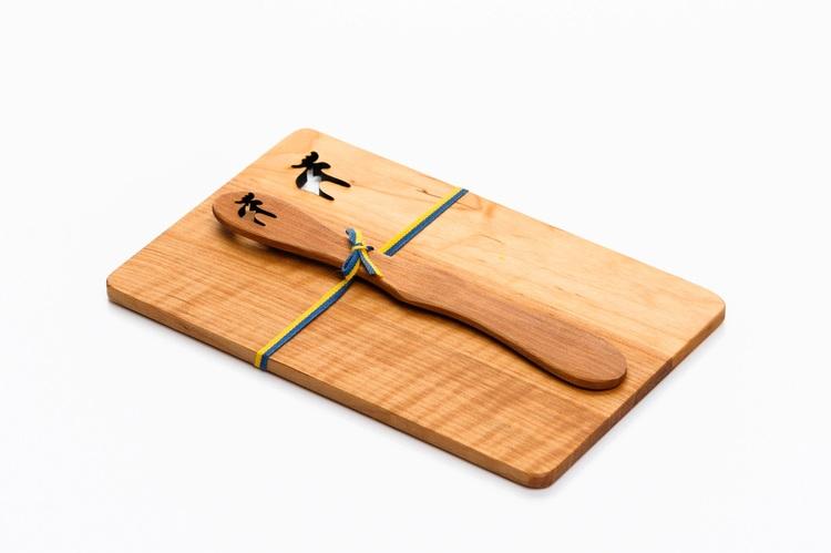 Smörgåsplatta med Smörkniv Älg