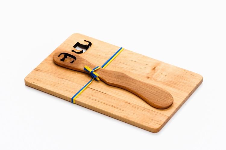 Smörgåsplatta med Smörkniv Vikingaskepp