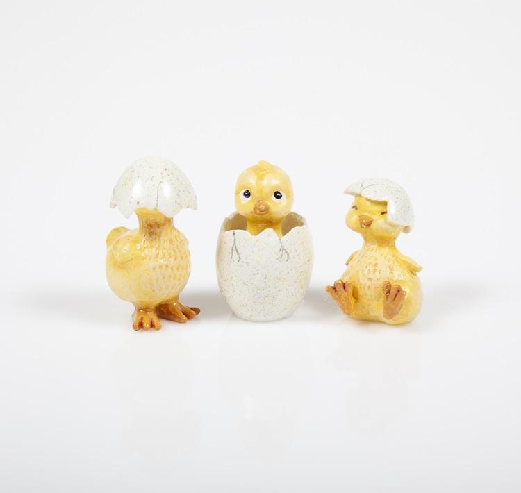 Kycklingar 3st H.4,9-6cm
