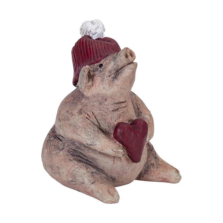 Julgris med hjärta H.5,5cm