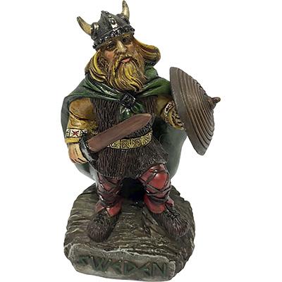 Figur: Viking, svärd, stående