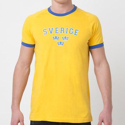 T-SHIRT Sverige gul / blå kronor (Barn / Vuxen)