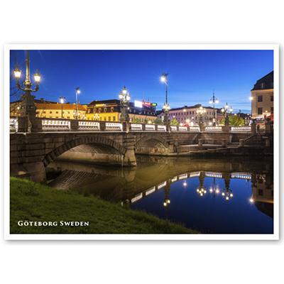 Vykort: Göteborg, Kungsportsbron, 148 x 105 mm