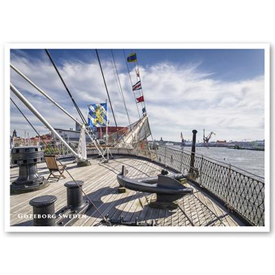 Vykort: Göteborg, skeppsvy, 148 x 105 mm