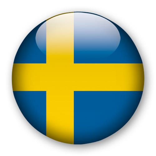 Magnet Sverige flagga 3,5 cm