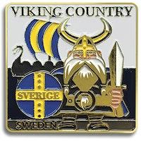 Magnet Viking i metall 5,5 x 5,5 cm