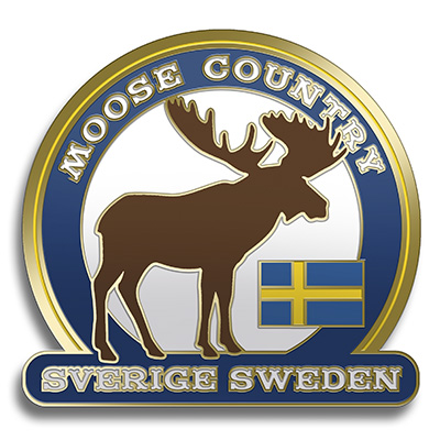 Magnet moose country i metall