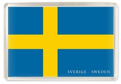 Magnet Sverigeflaggan, acrylplast