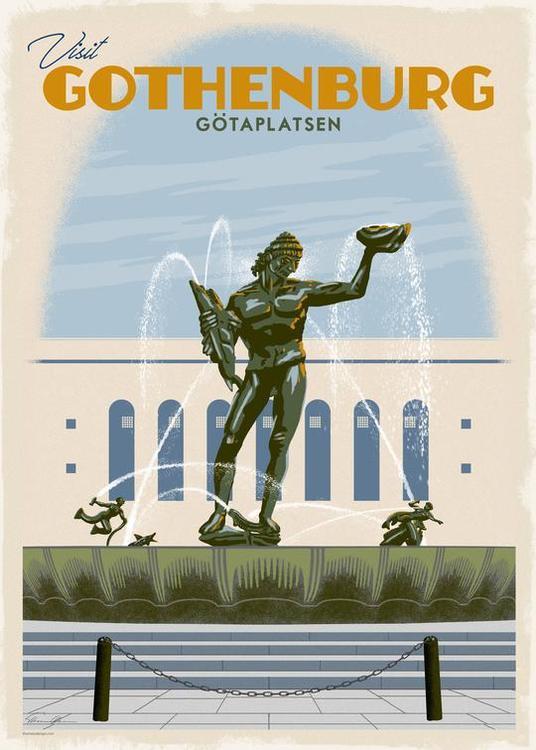 Högkvalitet Magnet: Götaplatsen (Göteborg)