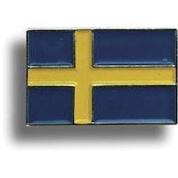 Pins i metall. Sverigeflagga (20x14mm)