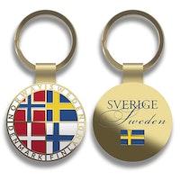 Nyckelring i metall: Scandinavia