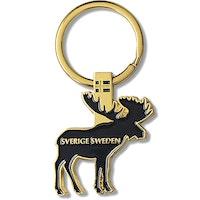Nyckelring i metall: Älg, Sweden, Marin färg