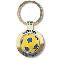 Nyckelring i metall: Fotboll, spinner