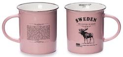 Mugg- Memoriz, Moose Classic, Large, With Story, Pink