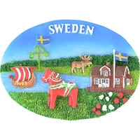 Magnet Sverige motiv Oval