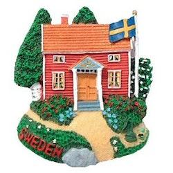 Magnet, röd stuga Sweden