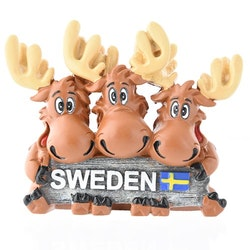 Magnet tre älgar Sweden
