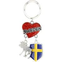N-RING HJÄRTA SWEDEN ÄLG SKÖLD
