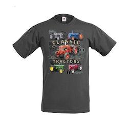 T-shirt  Classic Tractors Grå Färg:  Barn / Vuxna