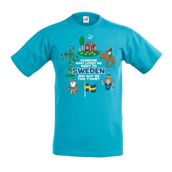 T-shirt Barn (Someone who loves me ...) Ljus Blå, Kids