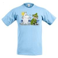 T-shirt: Mumin och Snusmumrik, Ljus Blå, KIDS