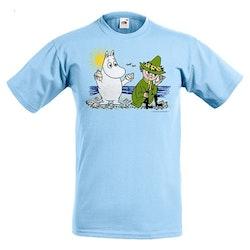 T-shirt:Mumin och Snusmumrik, Ljus Blå, KIDS
