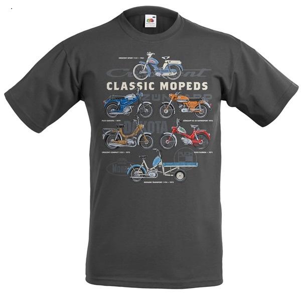 T-shirt Classic Mopeds, Mörkgrå