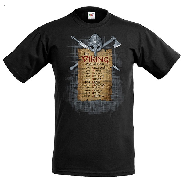 T-shirt: Viking World Tour, Svart