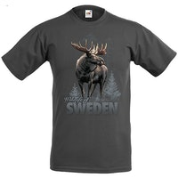 T-shirt: Älg Wildlife Sweden, Grafitgrå