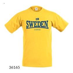 "T-shirt Sweden ""Lonsdale""  Gul"