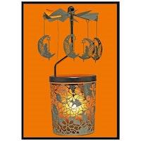 ÄNGLASPEL: Ljuslykta Karusell,Fe på månskära - Blommor