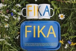 FRUKOSTBRICKA FIKA BLÅ/GUL