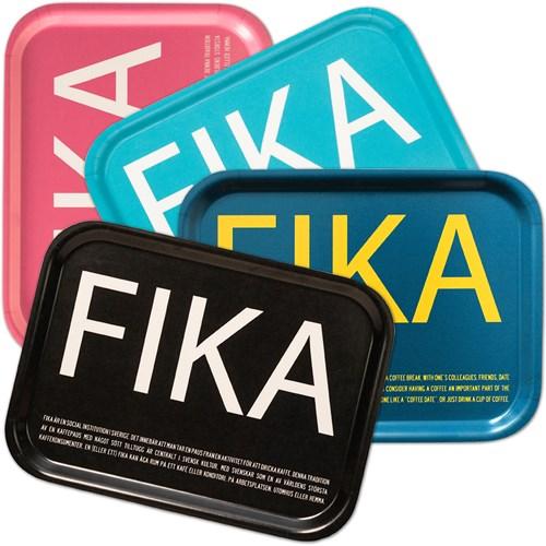 Bricka FIKA Blå / Gul (With English taxt)