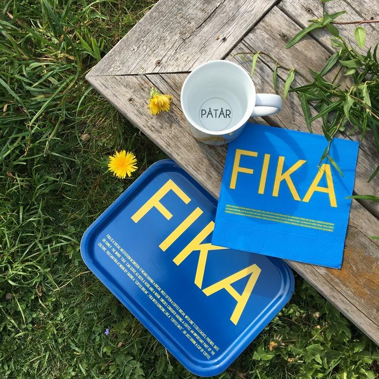 Lunchservett, FIKA Blå/Gul