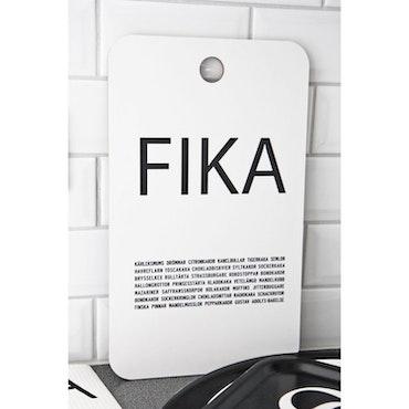Tabla de cortar de doble cara FIKA, Negro / Blanco