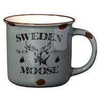 Mugg Stengods Sweden Moose 2 olika färger