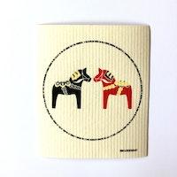 Disktrasa Dalahästar Svart/Röd