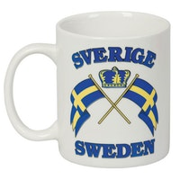 Mugg: Sweden, flaggor