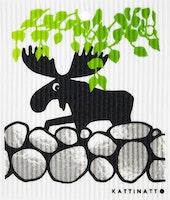 Disktrasa Älg Under Träd