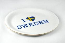 Glasunderlägg kant, I love Sweden