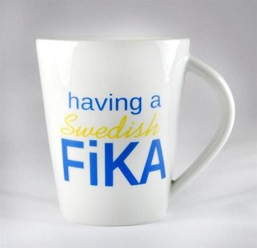 Taza de porcelana, sueca Fika